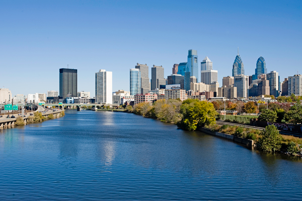 Philadelphia Skyline and Schuylkill river