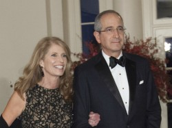 Aileen Roberts and Brian Roberts—chairman and chief executive of Comcast