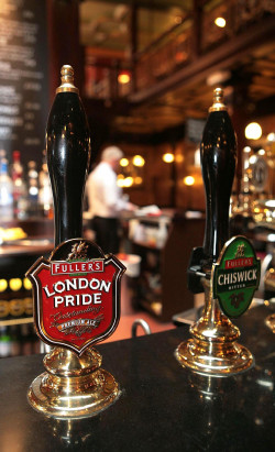 Fuller's flagship beer London Pride on tap