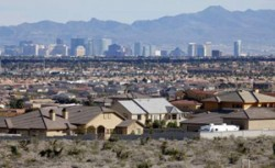 Las Vegas's construction sector was hit hard by the recession but is beginning to turn around